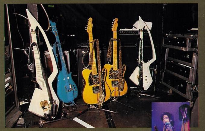 Guitars and amplifiers from the Nude tour